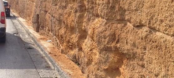 """Amministrative Agrigento, Di Rosa: """"il muro di contenimento appena restaurato di Via Crispi si sta sbriciolando"""""""