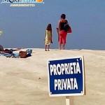 """Scala dei Turchi: sulla marna bianca il cartello """"Proprietà privata"""""""