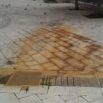 Agrigento, danneggiato il marmo bianco di piazza Stazione