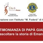 Agrigento, il Lions Club organizza incontro con il papà di Emanuele Ghidini