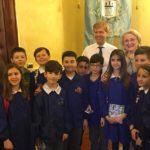 Agrigento, alunni della quinta elementare ricevuti dal sindaco Firetto