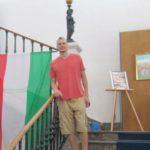 Il cestista della Fortitudo Agrigento Chris Mortellaro visita la Galleria della Scala Reale del Libero Consorzio