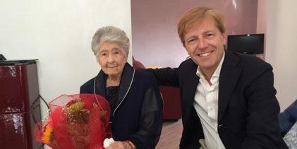 Il sindaco di Agrigento visita neo centenaria