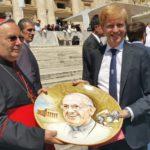 Il Sindaco di Agrigento all'udienza di Papa Francesco in piazza San Pietro