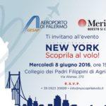 """Ad Agrigento l'evento """"New York scoprila al volo!"""": l'aeroporto di Palermo più vicino alla città dei Templi"""