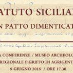 """Agrigento, al Museo Griffo il convegno """"Statuto Siciliano – un patto dimenticato?"""""""