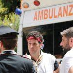 """""""Schiacciati dalla fede"""": piccolo incidente tra i portatori di San Calogero"""