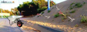 pista ciclabile sabbia