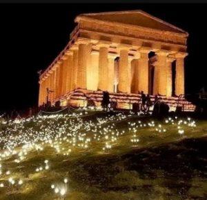 tempio concordia luci