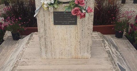 Danneggiata la stele in memoria del giudice Livatino