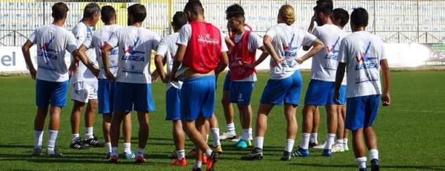 Akragas, allenamento tecnico fisico a Cava de Tirreni