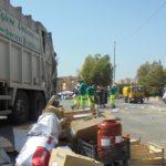 Raccolta dei rifiuti a singhiozzo: discarica chiusa di prima mattina