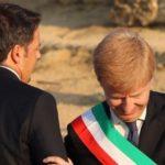 Renzi visita il cantiere sulla SS 640: presente anche il Sindaco Firetto