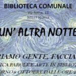 Sciacca: arte, musica e letture per una Notte Bianca in Biblioteca