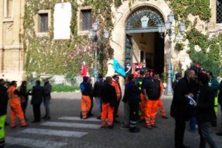 Netturbini in protesta: sit-in dinanzi il comune di Agrigento