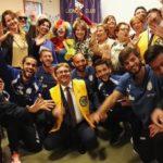 L'Akragas in visita al reparto di  Pediatria dell'ospedale di Agrigento