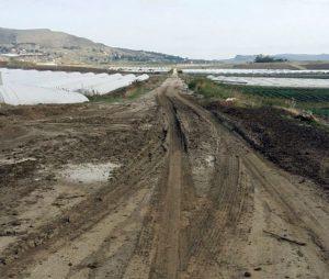 strada fango