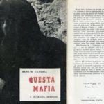 """Agrigento, martedì la presentazione della ristampa del volume """"Questa Mafia"""""""