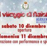 """Agrigento, """"Il Villaggio di Natale"""" prende vita: oggi l'inaugurazione"""