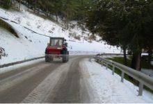 Ancora neve sulla SP 24 B in direzione Santo Stefano Quisquina: transito consentito con catene