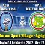 L'Akragas Futsal alla prova Leonforte: SEGUI LA DIRETTA