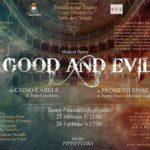 """Al Teatro Pirandello """"Good and Evil: da Caino ad Abele ai Promessi Sposi"""", di Pippo Flora"""