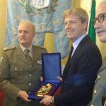 Agrigento, il Sindaco Firetto riceve il generale della Croce Rossa Italiana Lupini