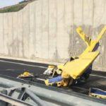Cade un biplano sulla SS 640: muore un uomo di 55 anni