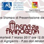 """""""Magna via Francigena"""": un circuito aperto a camminatori e pellegrini da Agrigento a Palermo"""