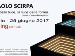 """Agrigento, alle FAM la mostra dedicata a Paolo Scirpa """"La forma della luce, la luce della forma"""""""