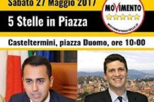 Elezioni a Casteltermini: sabato arriva Luigi Di Maio (M5S)