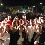 Elezioni amministrative, bagno di folla a Sciacca per il comizio del M5S: Mistretta e Di Battista incantano la piazza