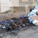 Agrigento, cassonetti a fuoco in via Manzoni: l'allarme dei cittadini
