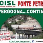 """Nove mesi senza il """"Ponte Petrusa"""": organizzato nuovo sit-in di protesta"""