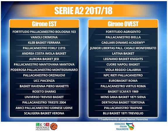 Calendario Serie A2 Basket.Basket Ecco Il Calendario 2017 2018 Della Serie A2 La