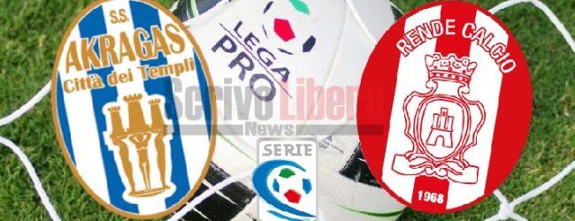 Serie C, Akragas-Rende il 3 settembre sul campo del Siracusa