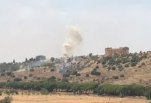 Agrigento, nuovo incendio nei pressi della Valle dei Templi: intervengono i Vigili del Fuoco