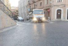 Agrigento, al via il lavaggio delle strade cittadine – FOTO