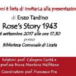 """Licata, domani pomeriggio la presentazione del nuovo romanzo """"Rose's Story"""" del Giudice Enzo Tardino"""