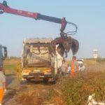 Agrigento, bonificata via Farag: mezzi e uomini a lavoro per pulirla dai rifiuti