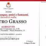 Agrigento, lunedì la presentazione del libro del presidente del Senato Pietro Grasso