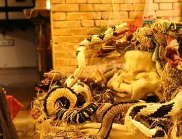 Arte e cultura ad Agrigento con le sculture tessili di Sylvie Clavel al Ristorante Perbacco – FOTO E VIDEO