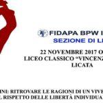 Licata, al Liceo Linares convegno FIDAPA su Donne e Uomini e vivere comune