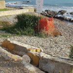 Agrigento, abbattuto muretto a San Leone: vandali in azione?