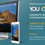 """""""You On Tour"""": l'innovativo progetto di marketing turistico-culturale per lo sviluppo internazionale della meta Agrigento"""