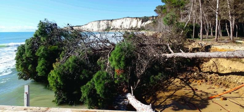 Erosione a Eraclea Minoa