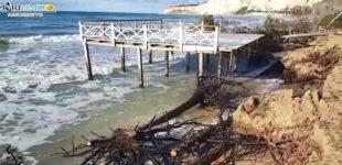 """Mareamico Agrigento: """"l'erosione costiera ad Eraclea Minoa continua"""" – VIDEO"""
