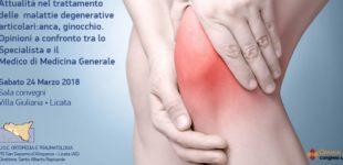 Attualità nel trattamento delle malattie degenerative articolari: ad Agrigento specialisti a confronto