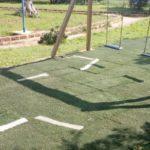 Sciacca, collocato il tappetino di erba sintetica nel parco giochi del museo del carnevale