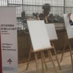 Arte e sport insieme: al PalaMoncada studenti dell'Accademia di Belle Arti creano un'estemporanea sulla Fortitudo Agrigento